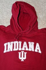 Indiana Hoosiers Crimson Red Hoodie, Appliqued Letters, Cotton/Poly, X-Large in Naperville, Illinois