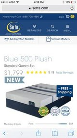 **$800 Off Instantly**BRAND NEW Serta iComfort Blue 500 Queen Set in Beaufort, South Carolina