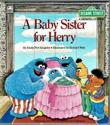 RARE Vintage 1984 Sesame Street A Baby Sitter for Herry A Golden Book Hard Cover in Joliet, Illinois