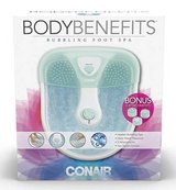 New! Conair Body Benefits Foot / Pedicure Massaging Bubbling Spa in Chicago, Illinois