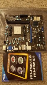 MSI FM2-A75MA-E35 FM2 AMD APU mATX Motherboard in Elgin, Illinois