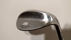 Mizuno MP Series 52-07 52* Degree Wedge Grain Flow Forged Steel Shaft in Yorkville, Illinois