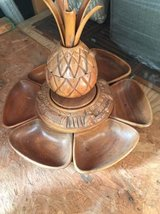WOODEN PINEAPPLE lazy Susan in Byron, Georgia