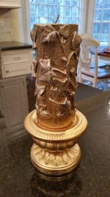 Candle and Holder - Gold Leaf Pattern in Westmont, Illinois