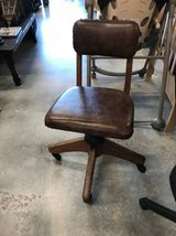 Vintage Rolling Tanker Desk Chair - Perfect Condition in Camp Lejeune, North Carolina