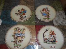 (4) Vintage M J HUMMEL GOEBEL Annual Porcelain Plates 1973, 1976, 1977, and 1978! Very Collectible in Spring, Texas