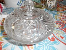 Small Beautiful Cut Glass Crystal Bowl + Lid! in Spring, Texas