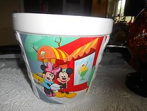 New Large Ceramic Disney Houston Harvest Mickey Mouse & Minnie Mouse Bowl Pot Planter Measur... in Spring, Texas