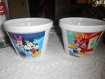 2 New Ceramic Disney Houston Harvest Mickey Mouse & Minnie Mouse Bowl Pot Planter Measures appro... in Spring, Texas