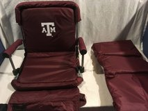 nwt ncaa collegiate texas a/m home color stadium padded chair / matching blanket  02386 in Fort Carson, Colorado