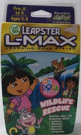 new leapster l-max learning game system dora explorer wildlife rescue leapfrog in Plainfield, Illinois