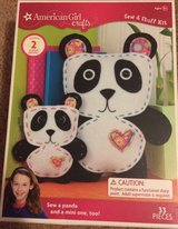 american girl doll crafts sew & stuff kit panda & mini panda 33 pieces ages 8+ in Plainfield, Illinois