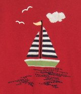 Sag Harbor FLAME RED Sail Boat Sport Theme Sweater Womens Medium 8 10 in Joliet, Illinois