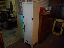 Shabby White Metal Cabinet in Naperville, Illinois
