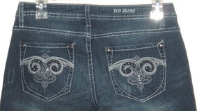 Zco Premium Embellished Bling Studded Skinny Denim Jeans Womens 7 x 31 Juniors in Chicago, Illinois