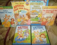Arthur 5 Books and 2 DVDs Marc Brown PBS Book Lot in Bolingbrook, Illinois