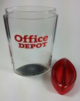 Office Depot Plastic Desk Office Pencil Pen Holder Organizer Container with Lid in St. Charles, Illinois