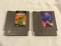 (2) vintage nintendo nes video game cartridges tmnt ii the arcade game / tetris  02402 in Fort Carson, Colorado