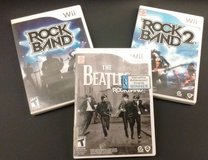 NINTENDO WII - 3 Video Game Bundle: Rock Band, Rock Band 2 & Rock Band Beatles! in Elgin, Illinois