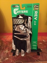 cutters rev 2.0 football gloves   adult medium   black/silver in Morris, Illinois