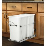 Like New! Rev-A-Shelf Pull out Trash Cans Under Counter Bottom Mount in Orland Park, Illinois