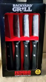 new backyard grill 4 jumbo steak knives - only $4.98 plus shipping! in Yucca Valley, California