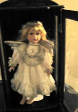 REDUCED! PORCELAIN ANGEL DOLL IN DISPLAY CASE in Quantico, Virginia