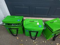 3 AMAZON FRESH REUSABLE INSULATED TOTE BAGS!! KEEP GROCERY FOOD FRESH! in Travis AFB, California