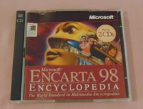 Microsoft Encarta 98 encyclopedia PC cd-rom 2 disc set CDrom Software in Plainfield, Illinois