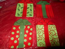 Fitz & Floyd Kringle Christmas Package GOURMET Snack Plates!  Set of 4  Great Condition! in Spring, Texas