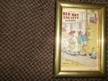 """Framed Re-print RED HAT SOCIETY Photo! 4"""" x 6"""" in Spring, Texas"""
