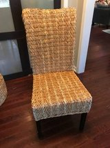 Rattan kubu dining accent chair in Beaufort, South Carolina
