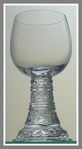 4 Crystal Bacchus all-purpose wine goblet by Rosenthal Thomas, Germany, 1970-1980s in Quantico, Virginia