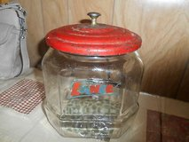 Vintage Lance Crackers / Snacks Glass Jar with the Original  Red Metal Lid in Spring, Texas