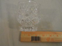 crystal cup clear etched glass bowl container 32311 in Fort Carson, Colorado