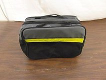 gray black yellow stripe full zipper medical kit pouch carrying handle 32996 in Fort Carson, Colorado