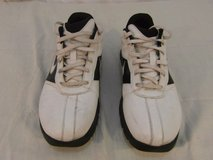 adult mens nike black white swoosh lace up golf shoes athletic performance 31633 in Fort Carson, Colorado