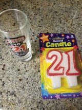 Turning 21 new candle and shot glass in Camp Pendleton, California