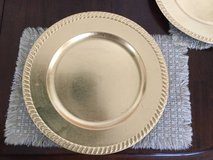 8 Gold Chargers for dinnerware / plates / dishes / decorative in Elgin, Illinois