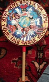"Remo Percussion Arts Hand Drum Walk Your Talk With Wooden Handle 10"" in Lockport, Illinois"