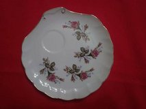 Four large eight inch diameter English design tea saucers in The Woodlands, Texas
