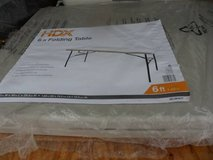 """HDX 6FT,. folding table 6' X 29.5"""" NEW in Chicago, Illinois"""