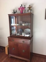 Vintage Solid Cherry 2 piece China Cabinet in Fort Rucker, Alabama