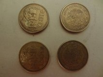 four Mexican 100 peso coins (no commercial value) in The Woodlands, Texas