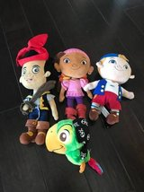 Lot Jake and the neverland pirates plush in Fort Campbell, Kentucky