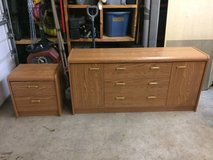 Laminate wood dresser and night stand in Joliet, Illinois