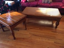 Solid wood coffee table with end table in Joliet, Illinois