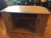 Laminate wood TV stand in Joliet, Illinois
