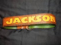 """NEW! Brown Boys Hand Tooled Leather Belt w/ the Name """"JACKSON"""" in Tacoma, Washington"""