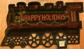 New Train Shaped Seasonal Outdoor Front Porch Rubber Doormat Rug Coir in Glendale Heights, Illinois